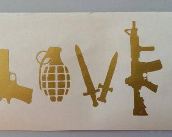 LOVE ARMY MiILITARY Vinyl Car Window Decal .. Free Shipping ..  Laptop Sticker Wine Glass Beer Mug Frame Sports Bottle Organizer
