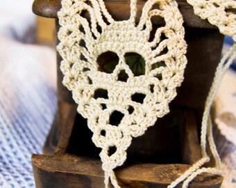 Barefoot sandals-crochet crochet skully barefoot sandals with skull