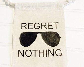 Regret Nothing Hangover Kit Bag With Sunglasses