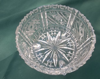 Vintage Crystal Compote / Candy Dish