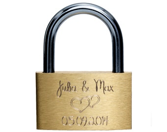 Big brass love lock 50mm