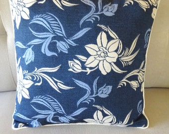 Decorative pillow–Blue Floral