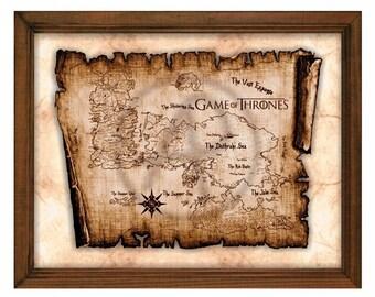 game of thrones map etsy. Black Bedroom Furniture Sets. Home Design Ideas