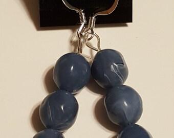 Blue Earrings Pierced