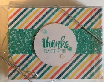 Set of 6 Handmade Thank You Cards
