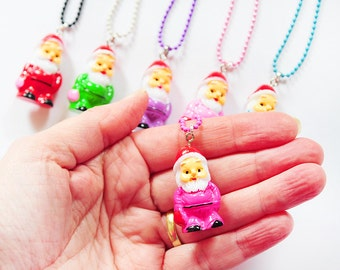 GNOME 3D necklace, pendant, KABOUTER ketting, SANTA