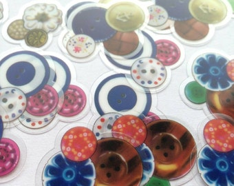 STICKER flakes, various designs