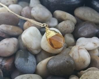 OPULENCE - Topaz 18K Gold Chalcedony Necklace by EverEden