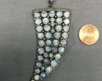 Diamond and Moonstone pendant