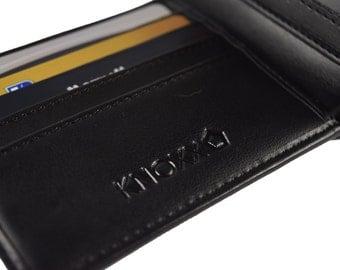 Mens Leather Wallet - RFID Secure Black Leather Wallet