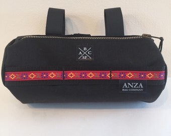 ABCSF HandleBar Bag- Black and Red Floral