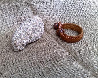 Leather Bracelet, 16 Strand Braid