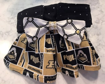 Female Dog Panties w Skirt, Female Dog Diapers, PURDUE Dog Skirt