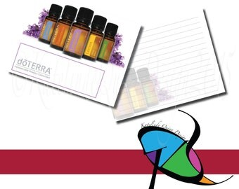 DoTerra Set of 25 printed notecards WITH envelopes for any occasion!!! The front is glossy and the back is Matte for easy writing