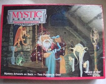 Mystic Series Two Sided Jigsaw Puzzle Wizard of Odd 1991 Factory Sealed 513 Pieces