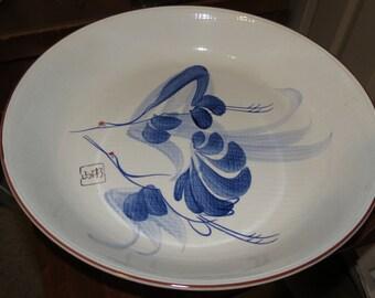 Vintage Crane Serving Bowl