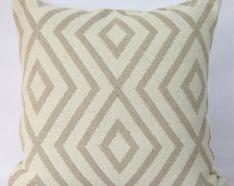 Beige pillow geometric throw pillow case 20x20 decorative cover bed pillows 18x18 pillow cover 24x24 pillow 16x16 pillow sofa cushion cover