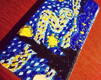 Hand painted Starry Night iPhone 6/6s case.