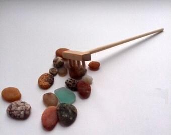 Zen Garden Rake Mini Decor Home Decoration Accessories Gift Wooden Rake