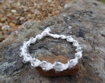 White & Crystal Bracelet