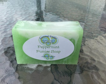 Peppermint Pumice Soap, Exfoliating and Rejuvenating Soap, Foot Scrub Scoap, Soap for Men or Women