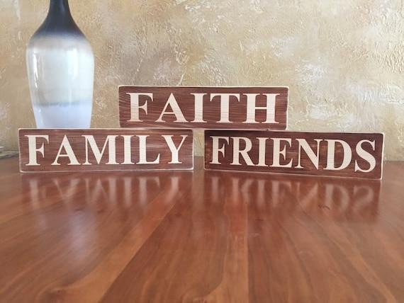 Faith family friends home decor for Faith decor