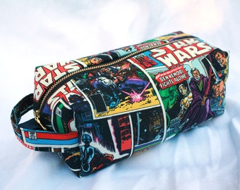 Toiletry Bag - Retro Star Wars- Empire Strikes Back- Luke, Leia, Obi Wan Kenobi - School Supplies - Electronics case- Valentine's Day Gift