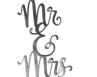Mr & Mrs Metal Wall Decor