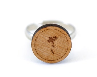 Faroe Islands Ring, Wooden Ring, Gift For Him or Her, Wedding Gifts, Groomsman Gifts, and Personalized