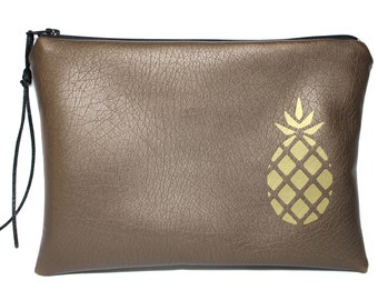 Pineapple, pineapple makeup pouch makeup Kit