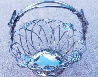 Godinger set of 2 silver basket