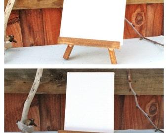 Mini Canvas With Easel/Easel Art/Desk Gift/Mini Easel Canvas/Blank Canvas Kit/DIY Canvas Art/DIY Art Kit/Display Easel/Wedding Table Display