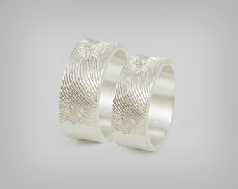 "Partner rings / wedding rings ""Fingerprint"""