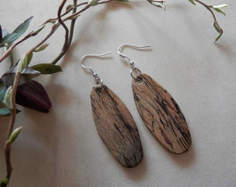 Beautiful Exotic Spalted Tamarind and Wenge Wood Earrings. FREE SHIPPING !!!!