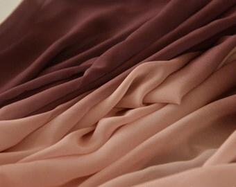 0.5 meter Chiffon Fabric, plain Fabric, Gradient fabric,fabric for Dress,wide 57.08''(3-245)