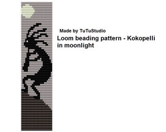 Kokopelli in moonlight, loom beading pattern
