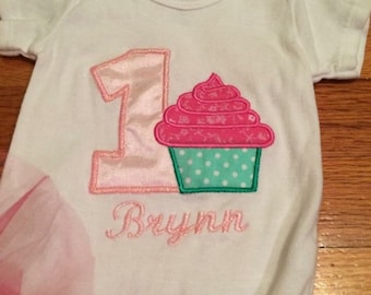 First birthday cupcake outfit