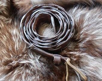Vintage Rich Brown Leather Mens/Ladies Belt by Mint