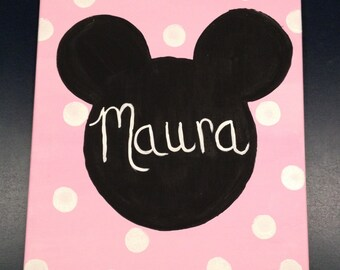 Personalized Mickey Canvas