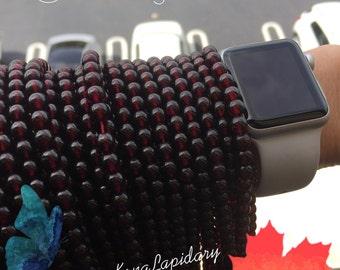 6MM natural garnet beads