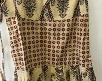 Light Brown Wrap around skirt-One size