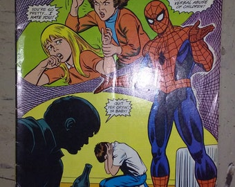 Spiderman fights child abuse -comic