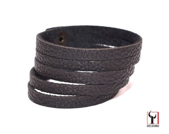 "Real Genuine Leather Bracelet ""5"""
