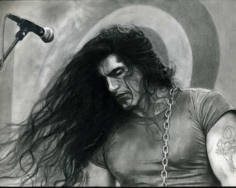 Peter Steele Realistic Pencil Portrait Print