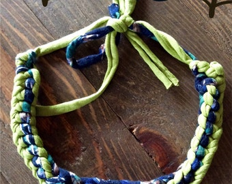 Necklace lime and blue