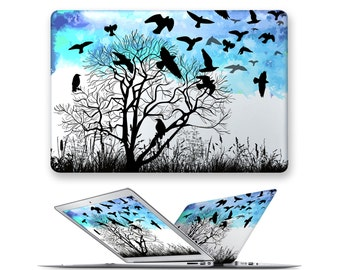 macbook pro hard case rubberized front hard cover for apple mac macbook air pro 11 12 13 15 tree bird