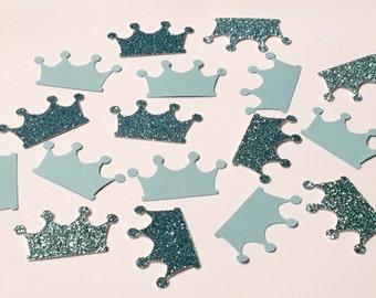 200 Crown Confetti Blue Confetti Princess Confetti Glitter Confetti Birthday Confetti Party Confetti Wedding Confetti Shower Confetti