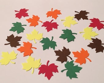 225 Fall Leaf Confetti Fall Confetti Leaf Confetti Autumn Confetti Birthday Confetti Party Confetti Fall Leaves Autumn Leaves Die Cut