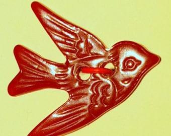 Dark Red  Bird in Flight