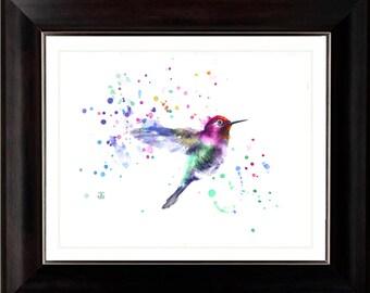 Original  Bird Painting, Flying bird, Original Watercolor Painting, Color bird